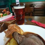 Sunday roast and a pint