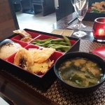 Miso soup and a Bento Box