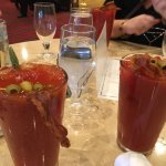 Bloody Mary's with Bacon.
