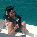 Snorkeling off the catamaran