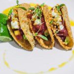 Try our fresh ahi tacos during Happy Hour!