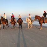 Sunset ride on the beach, March 2017