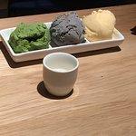 Tonkotsu ramen is amazing!!! Black sesame ice cream is worth to try!!!