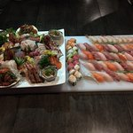 Sushi and Sashimi for the party
