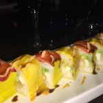 Tropical Roll with soy paper wrap