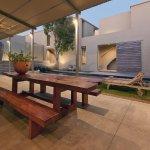 Seating area around Pool