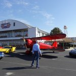 Fast cars and airplanes visit the Hangar Inn