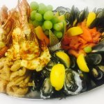 Amazing seafood platters at The Moonee