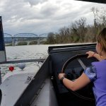 Kids offered to drive the boat