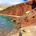 Red Sand beach and cliffs
