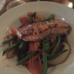 Herbed Salmon with Sautéed Vegetables (comes with udon noodles)