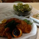 my favorite: Wienerschnitzel (Pork) with rice and green salad with pumkinseed oil