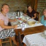 Having breakfast at 44 Viscri.