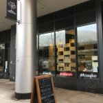 Friendly, airy, great selection of self-serve items and made to order sandwiches & breakfasts.