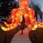 salah satu spot di lagoi bay lantern park, big octopus!