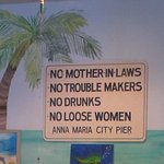 a whimsical sign