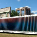 "From Carlos Cruz-Dies ""Chroma"": outside of a shipping container. The inside is even more awesome"