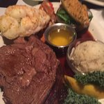 Flamingo Grill prime rib and lobster