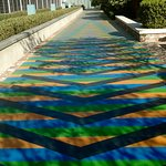 "From Carlos Cruz-Dies ""Chroma"": a sidewalk outside the SCAD museum"