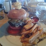 My great burguer with cheap at DiMillo's