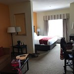 Nice clean room. Very comfortable bed and easy access right off hwy and close to numerous restau
