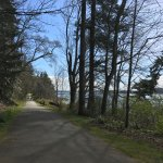 Rolling grade. Paved pathway makes it easy to walk and enjoy the views.