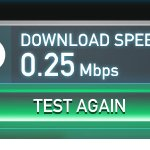 Speed test for internet