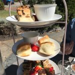 High Tea Royale for 3!  Amazing.  So much food.  A beautiful setting, great tastes and wonderful