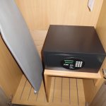 Safe and ironing facilities in room