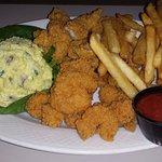 fish and shrimp platter