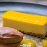 Passionfruit Cheesecake, Chocolate Sorbet