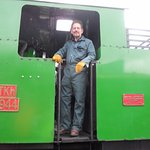 having a great time driving steam locomotive TKh49 No 2944 hotspur