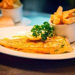 Dover Sole - Firm and meaty texture, full of flavour; served on the bone with bottomless chips