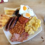 "A ""medium"" English breakfast. Cooked to order, served piping hot and delicious."