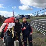 Stewart and I after we landed