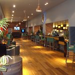 The attractive and pleasant bar of the Radisson Blu hotel in Cardiff City Centre