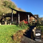 We're situated in a stunning woodland lodge.