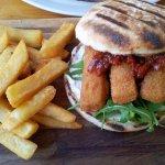 FIsh finger burger