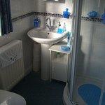 Bathroom with large shower and bath tub
