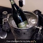 Bottle in room for my birthday