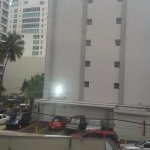 View from room, just roud the corner is the beach