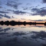 Sunset over main lake