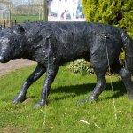 Wolf Conservation Trust sculpture