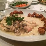 Chicken and mushroom sauce - delicious.