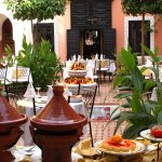 Buffet lunch in our main courtyard