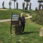 Enjoying golfing in the sun