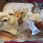 Breakfast in the room. Whipped scrambled egg, Breads, Creme caramel and much much more! ,