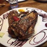 French toast made with the mission's home made cinnamon bread.