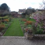 The part-walled garden in spring