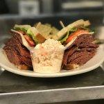 Hard salami sandwich
